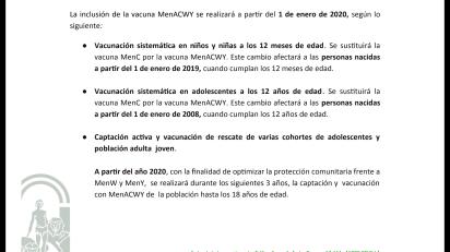 Calendario De Vacunacion 2020.Llega Al Calendario La Vacuna Men Acwy En Andalucia Daniel Ruiz
